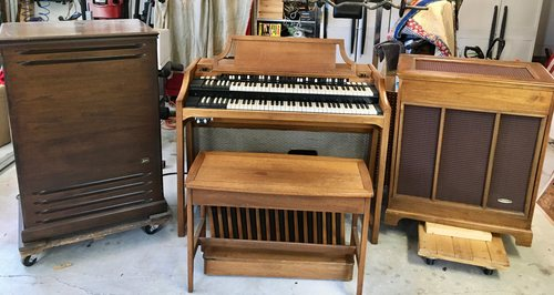 Hammond A-100 with nice Leslie and tone cabinet ( call for pricing)